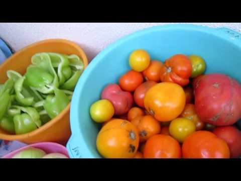 Салат с помидор и болгарского перца на зиму Вкусный рецепт овощной салат