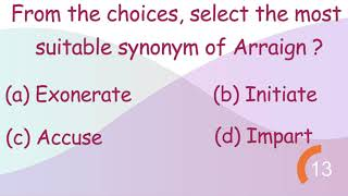 Can you guess the Synonym For The Arraign? Polite English Jaipur | Que. 4