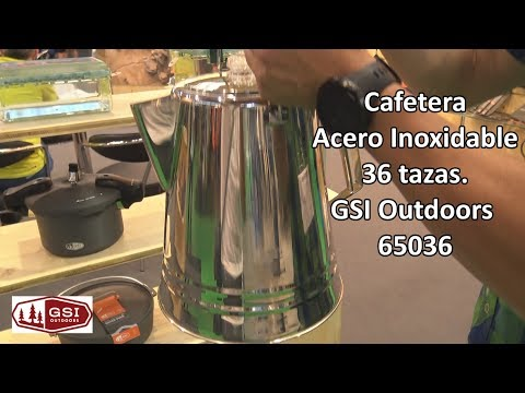 Cafetera Acero Inoxidable 36 tazas GSI Outdoors  #Camping #Outdoor