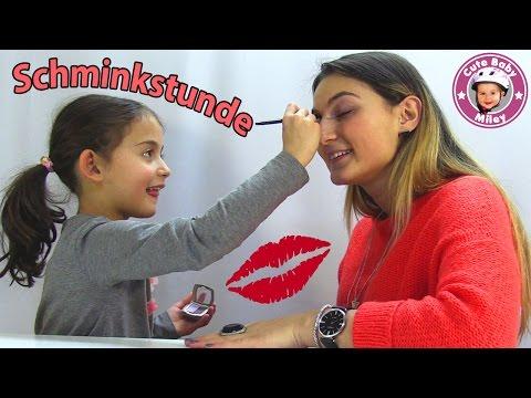 Miley schminkt Ilkay - Übung macht den Meister :-) - Kanal für Kinder