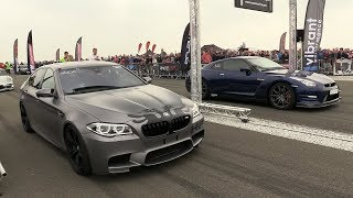 900HP BMW M5 F10 HPT vs 650HP Nissan GTR R35