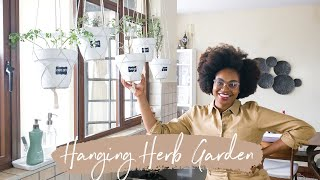 DIY Hanging Herb Garden | AT HOME Isolation Project