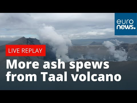 More ash spews from Taal volcano south of Manila | LIVE