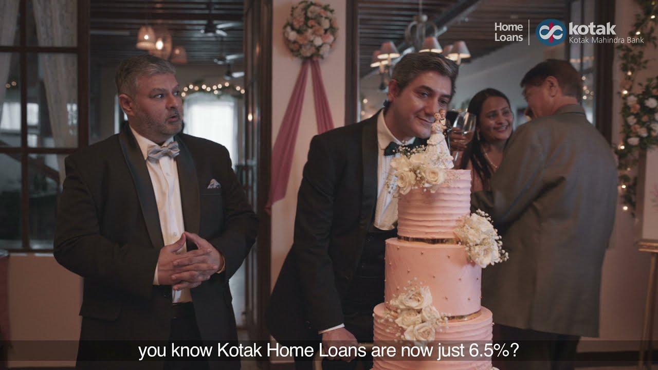 Kotak House Loans @ 6.5% p.a. Wedding Event Cake #KripyaDhyaanRakhein