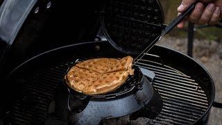 Folge120 - Waffeln vom Grill & das Weber Waffeleisen im Test [Deutsches BBQ- Grill und Back Rezept]