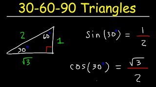 30-60-90 Triangles - Special Right Triangle Trigonometry