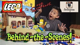 LEGO SIMPSONS HOUSE Behind-the-Scenes & Now On INSTAGRAM!