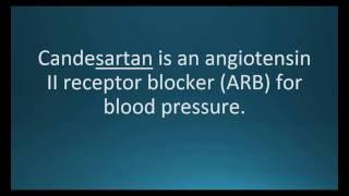 How to pronounce candesartan (Atacand) (Memorizing Pharmacology Flashcard)