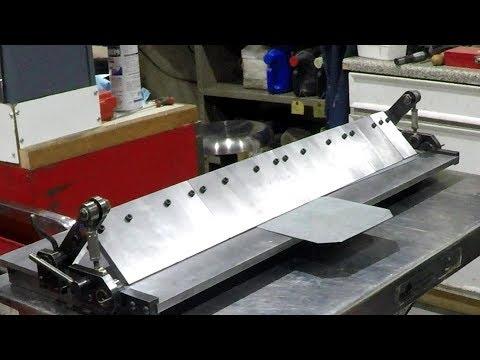 Bending Brake Episode 14 - Making Fingers, Finishing Clamp Bar