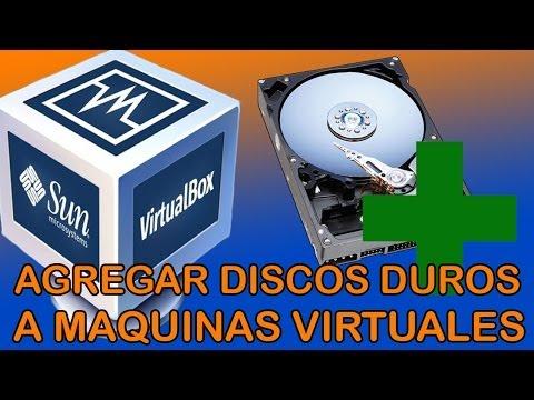 Agregar discos duros a maquinas virtuales | VirtualBox