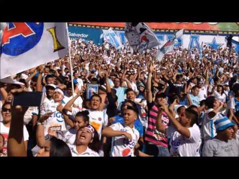 """""""Recibimiento de Alianza FC ante CD Aguila"""" Barra: La Ultra Blanca y Barra Brava 96 • Club: Alianza"""