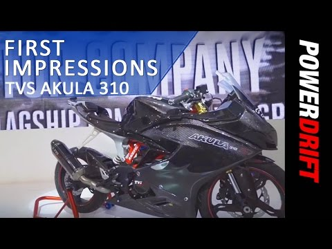 TVS Akula 310 : First Look : PowerDrift