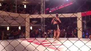 MMA fight between Bonny van Oortmerssen and Monika Sharma, round 1.