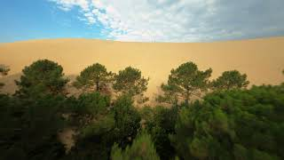 Sand Dune line FPV Drone Cinematic
