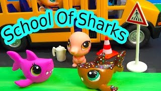 LPS - Saved Seat - School Of Sharks Series Video Movie Littlest Pet Shop Part 8 Cookieswirlc