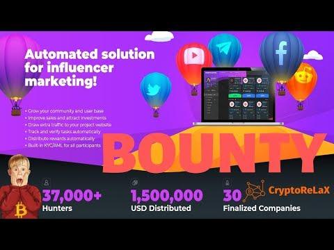 Обзор баунти площадки BountyHunters Заработок в интернете без вложений
