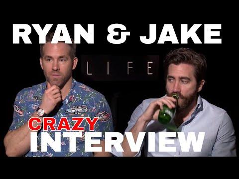 Ryan Reynolds & Jake Gyllenhaal Awkward interview for LIFE film