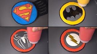 HEROES LOGO Pacake Art - Superman, Batman, SpiderMan, Flash