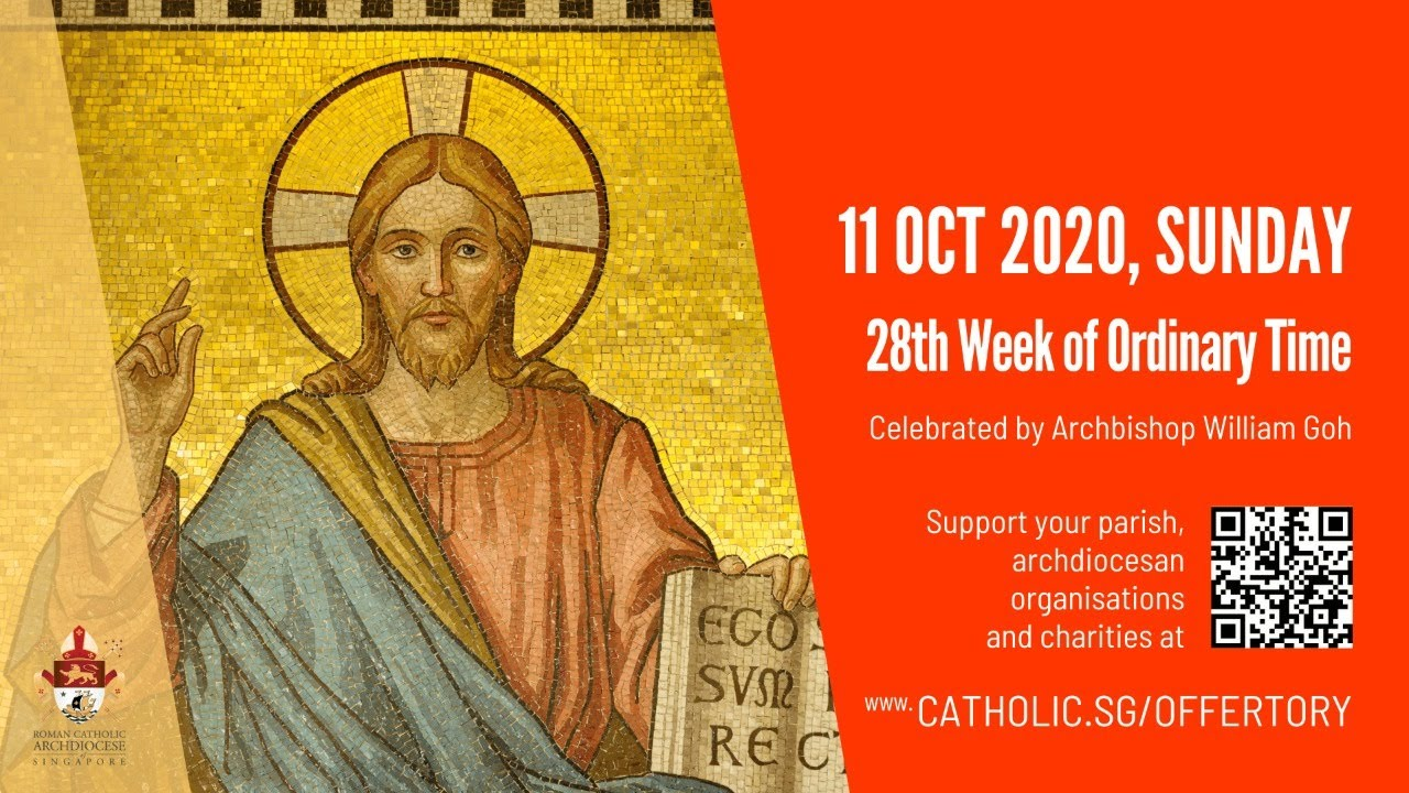 Catholic Sunday Mass Today Live Online Sunday 11th October 2020, 28th Week of Ordinary Time 2020