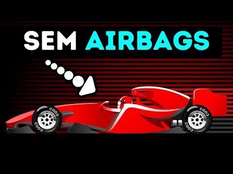 É por isso que os carros da F1 não têm com airbags