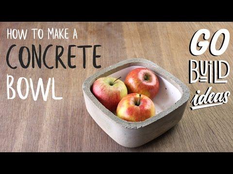 How to make a stylish DIY CONCRETE BOWL