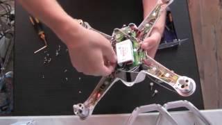 Как разобрать квадрокоптер Walkera Qr X350 Pro! / How to open quadrocopter Qr X350 Pro.