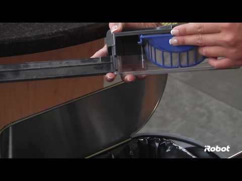 Emptying the Bin and Cleaning the Filter | Roomba® 600 Series Robot Vacuums