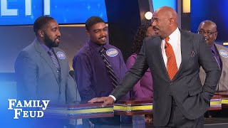Things get HAIRY with Steve and De Von   Family Feud