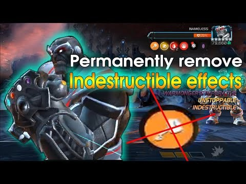 Permanently Remove Indestructible Effects Thanos Nameless Mcoc Marvel Contest Of Champions