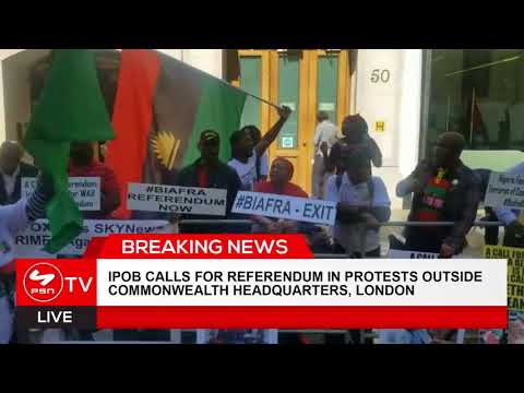 IPOB calls for Referendum in protests outside Commonwealth headquarters, London