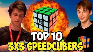 Top 10 3x3 Speedcubers 2016