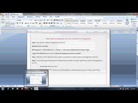 Informatica Administration Training Tutorial 3: Integration Service ...