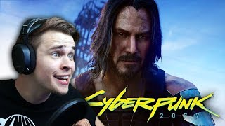 KEANU REEVES?!   Cyberpunk 2077 Reaction   E3 Xbox Conference 2019