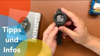 Garmin Instinct Solar Tipps: Einstellungsmöglichkeiten auf der Smartwatch