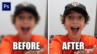 How To Fix A BLURRY PHOTO in PHOTOSHOP 2017! (Tutorial)