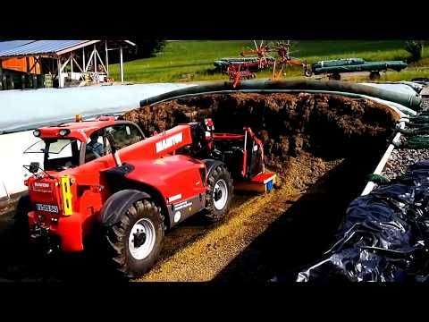 Современная трамбовка силоса - фермерские ухищрения