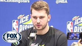 Luka Doncic on All-Star snub, LeBron's influence at NBA Rising Stars media day | FOX SPORTS