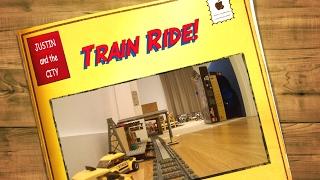 Huge Lego Train Ride Layout Through House January 2017!