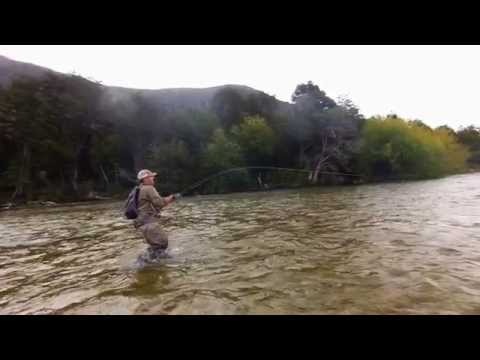 FLY FISHING CHINOOK SALMON IN SLOW MOTION - CHILE BY MARCELO ROIG 2015