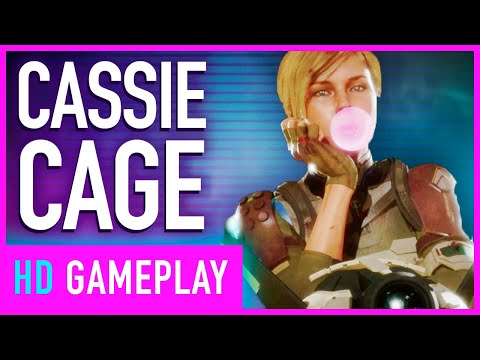Mortal Kombat 11 - Two Full Matches of Cassie Cage vs Sonya Blade Gameplay