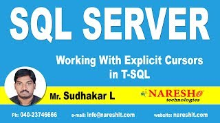Working With Explicit Cursors in T-SQL | SQL Server Tutorial | Mr.Sudhakar L