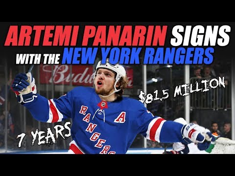 Panarin Signs with the New York Rangers