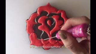 Rose Decorated Sugar Cookies