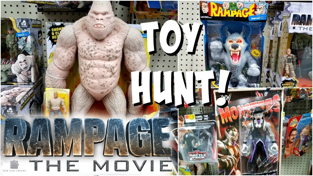 RAMPAGE TOYS AT WALMART TOY HUNTING WWE MONSTERS BLACK