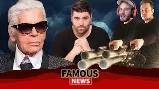 Karl Lagerfeld R.I.P., Elon Musk Collabs With PewDiePie, Bernie Sanders 2020 & More | Famous News