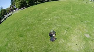 2nd test of runcam hybrid in wind sharp direction changes, plyn chicken with me fpv
