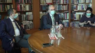 Встреча Зограба Мнацаканяна с представителями гражданского общества Арцаха