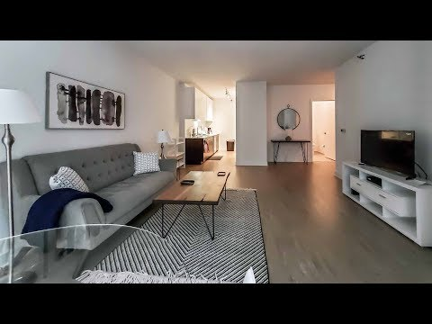A spacious furnished 1-bedroom at the Loop's luxurious MILA apartments