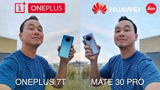 Huawei Mate 30 Pro vs OnePlus 7T Camera Test Comparison!