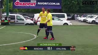 Division B | MANZANA - КУНЬ ЛУНЬ RED STAR 11:1 (Обзор) #SFCK Street Football Challenge Kiev